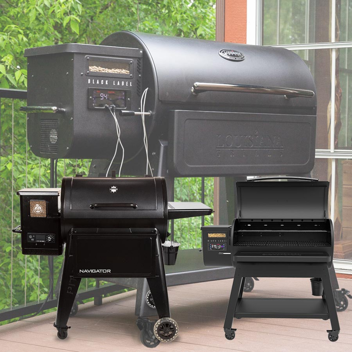 Louisiana Black Label wood pellet grills: